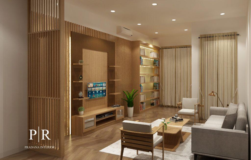 Jasa desain dan kontraktor interior - jasa desain interior - Backdrop TV